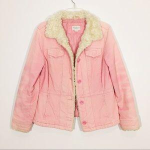 Sonoma Corduroy Sherpa Style Collar Size Medium